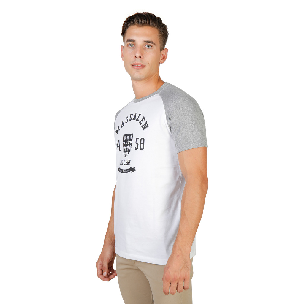 T-SHIRTS HOMME OXFORD UNIVERSITY MAGDALEN RAGLAN MM GRIS