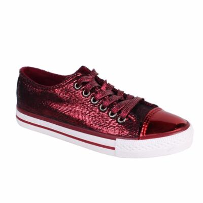 BASKETS BASSES FEMME BORDEAUX