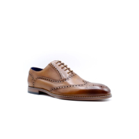 DERBIES MARRON EN CUIR POUR HOMME BY LOLAGULIANA