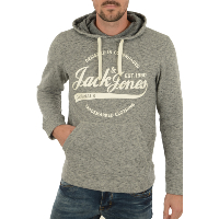 JACK AND JONES SWEAT A CAPUCHE PANTHER SWEAT HOOD NOOS GRIS HOMME