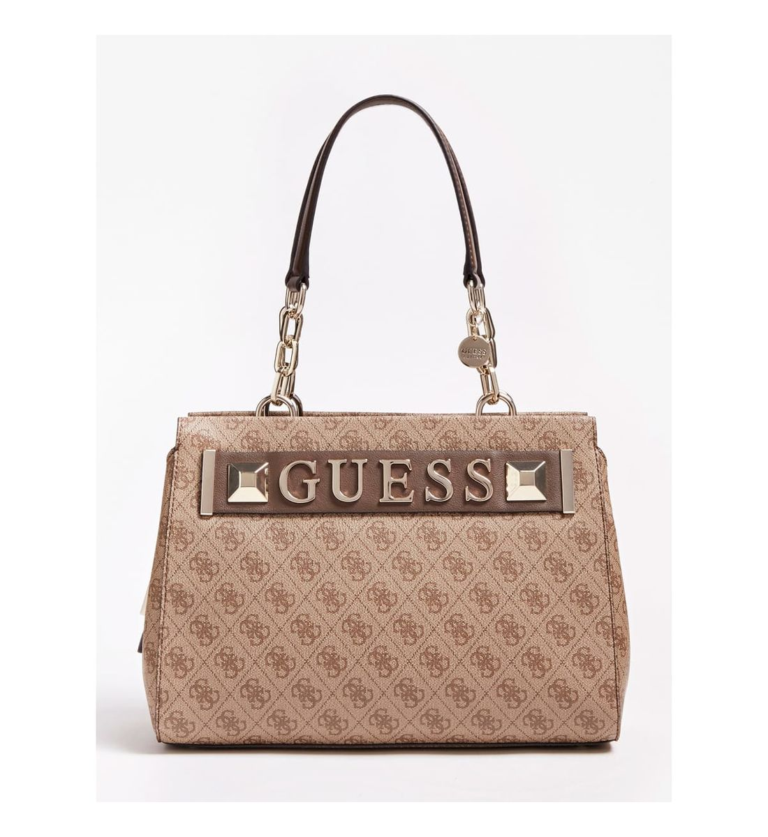 GUESS JEANS SAC A MAIN KERRIGAN MARRON FEMME