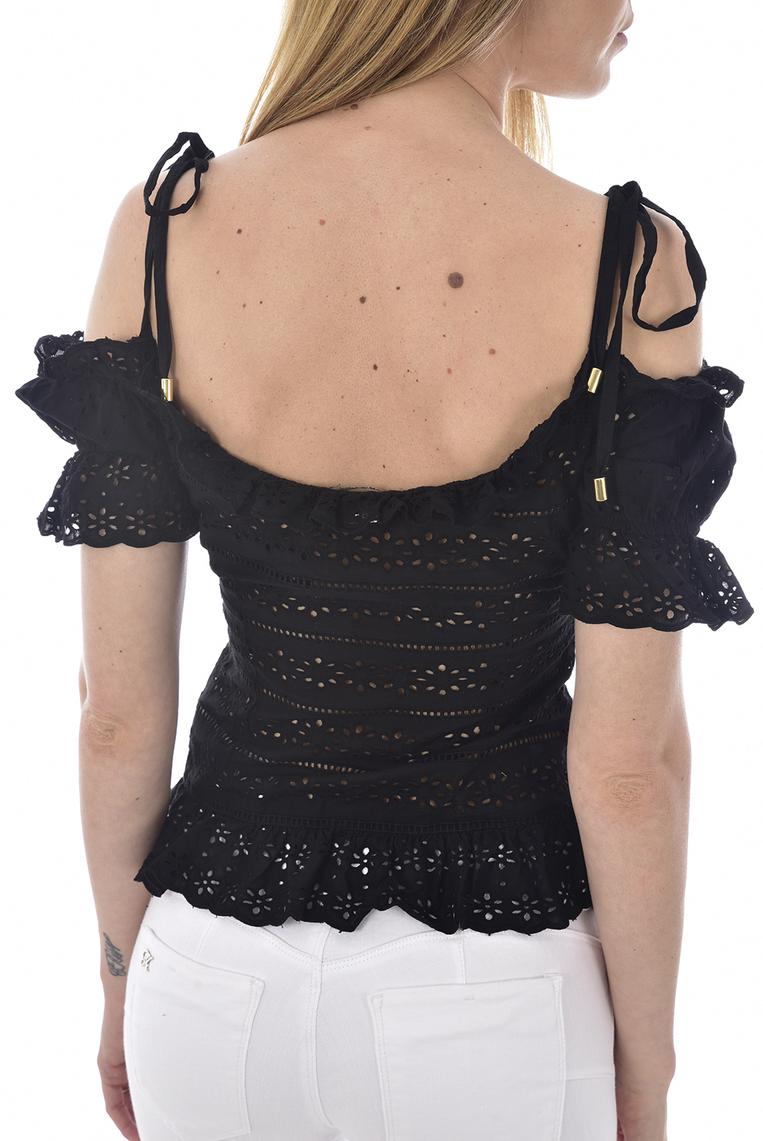 GUESS CORSET BRODERIE ANGLAISE W92H0C NOIR FEMME