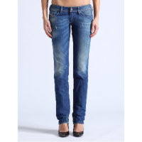 DIESEL LOWKY 0823U REGULAR STRAIGHT SS 14 BLUE JEANS WOMEN