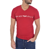 EMPORIO ARMANI TEE-SHIRT 110810 9A516 ROUGE HOMME