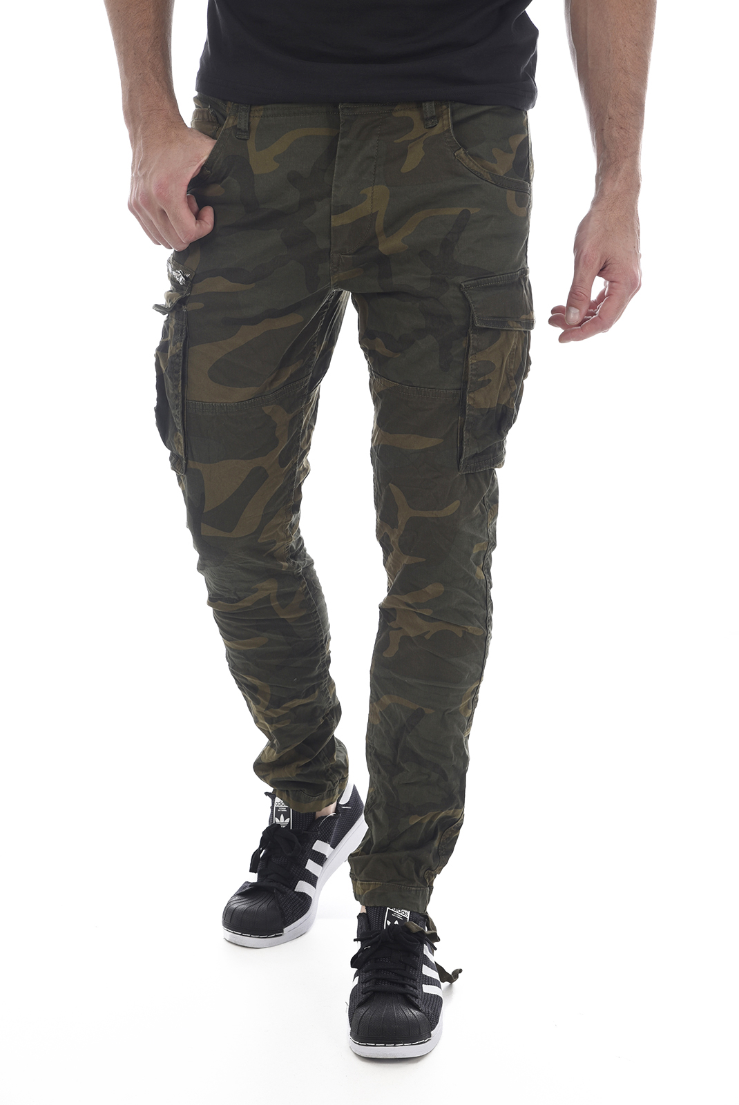 JACK AND JONES PANTALON CARGO PAUL CHOP WW NOOS FOREST NIGHT/CAMO