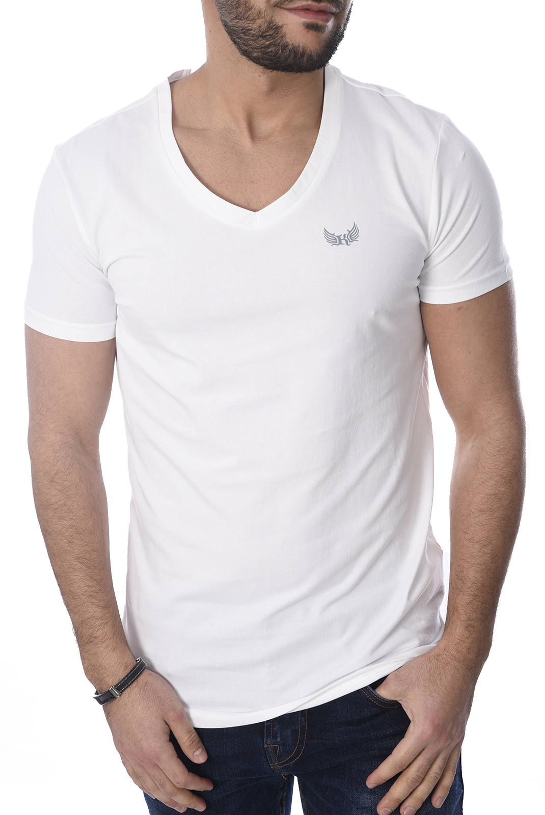 KAPORAL PACK DE 2 T-SHIRTS GIFT ORANGE BLANC HOMME