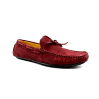 MOCASSINS EN CUIR BORDEAUX HOMME BY LOLAGULIANA