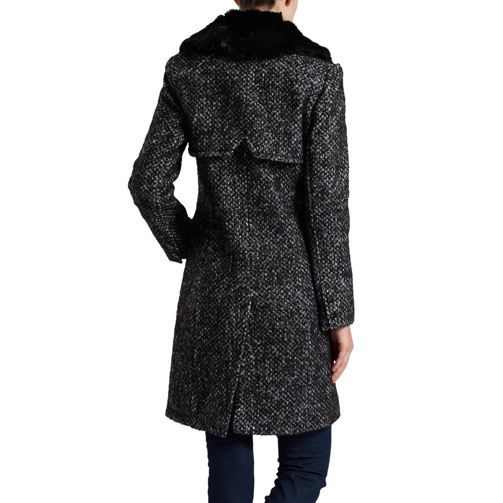 Manteau Femme Halifax Fausse Avec Col Fourrure rcqAP70rw