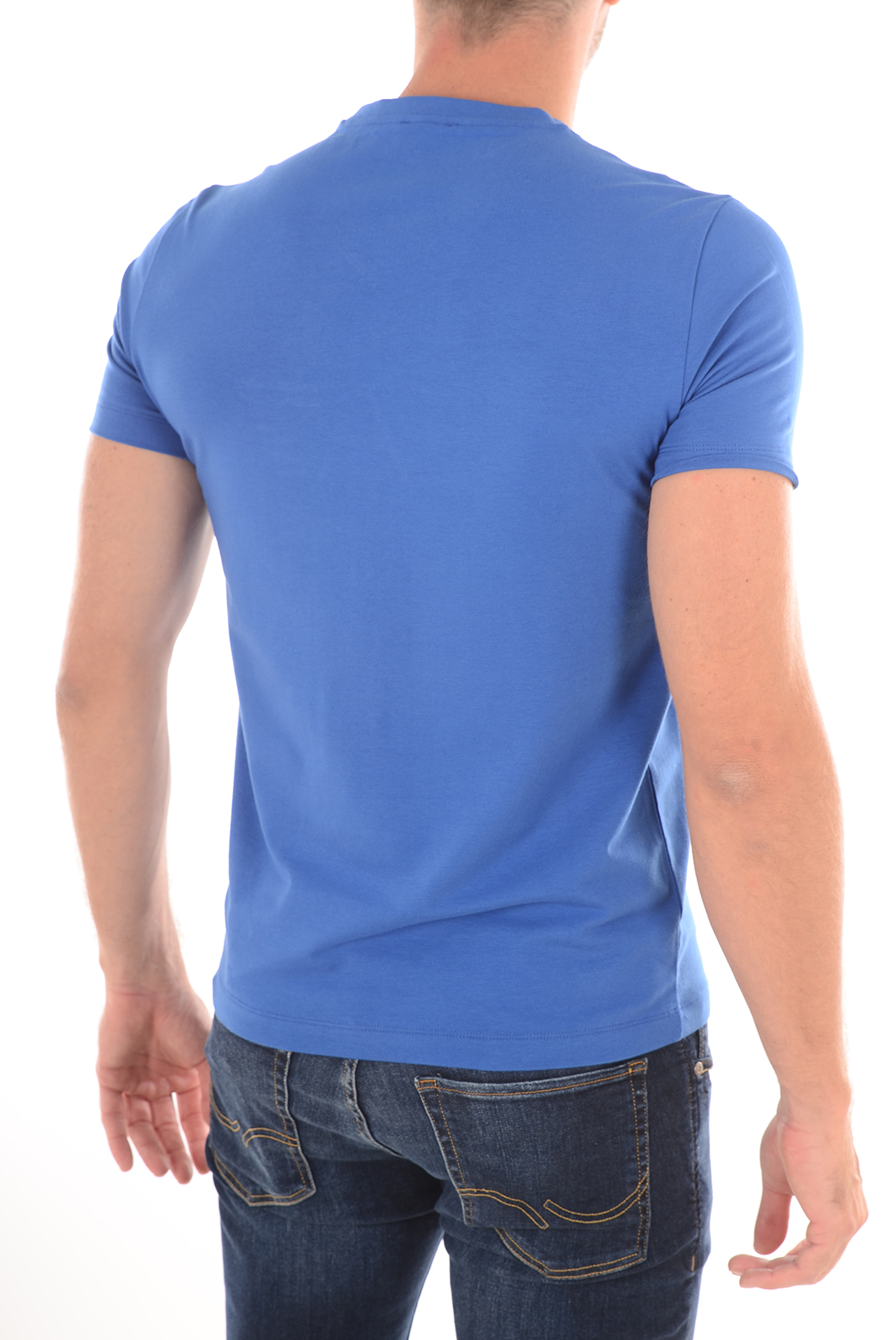 EA7 EMPORIO ARMANI TEE-SHIRT STRETCH LOGOTE 273911 BLEU ROYAL