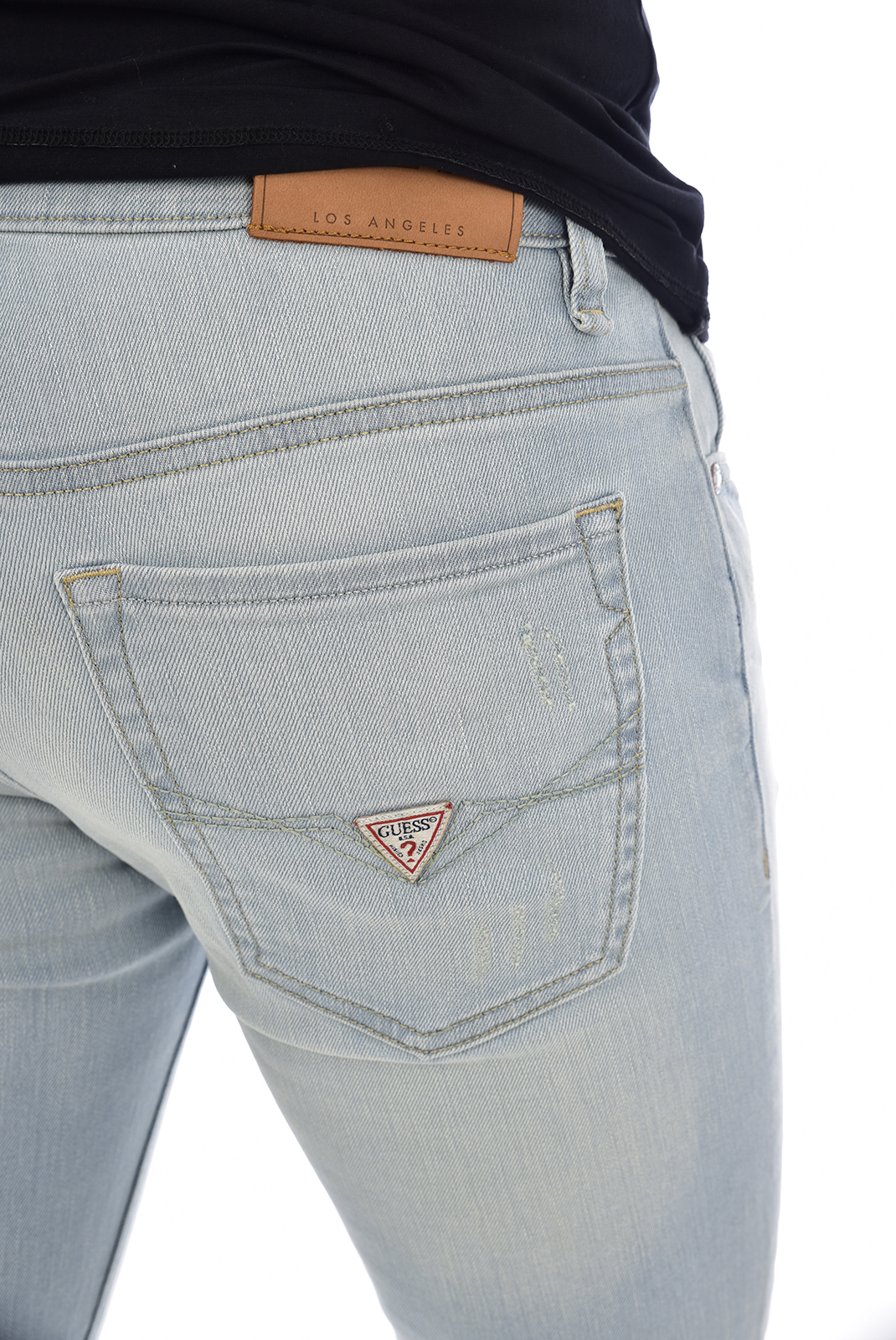 Guess Jeans Bleu Skinny Taille Basse M92an2 Angels