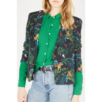 SEE U SOON 20151002B - BLAZER A IMPRIMES TROPICAL TOUCAN