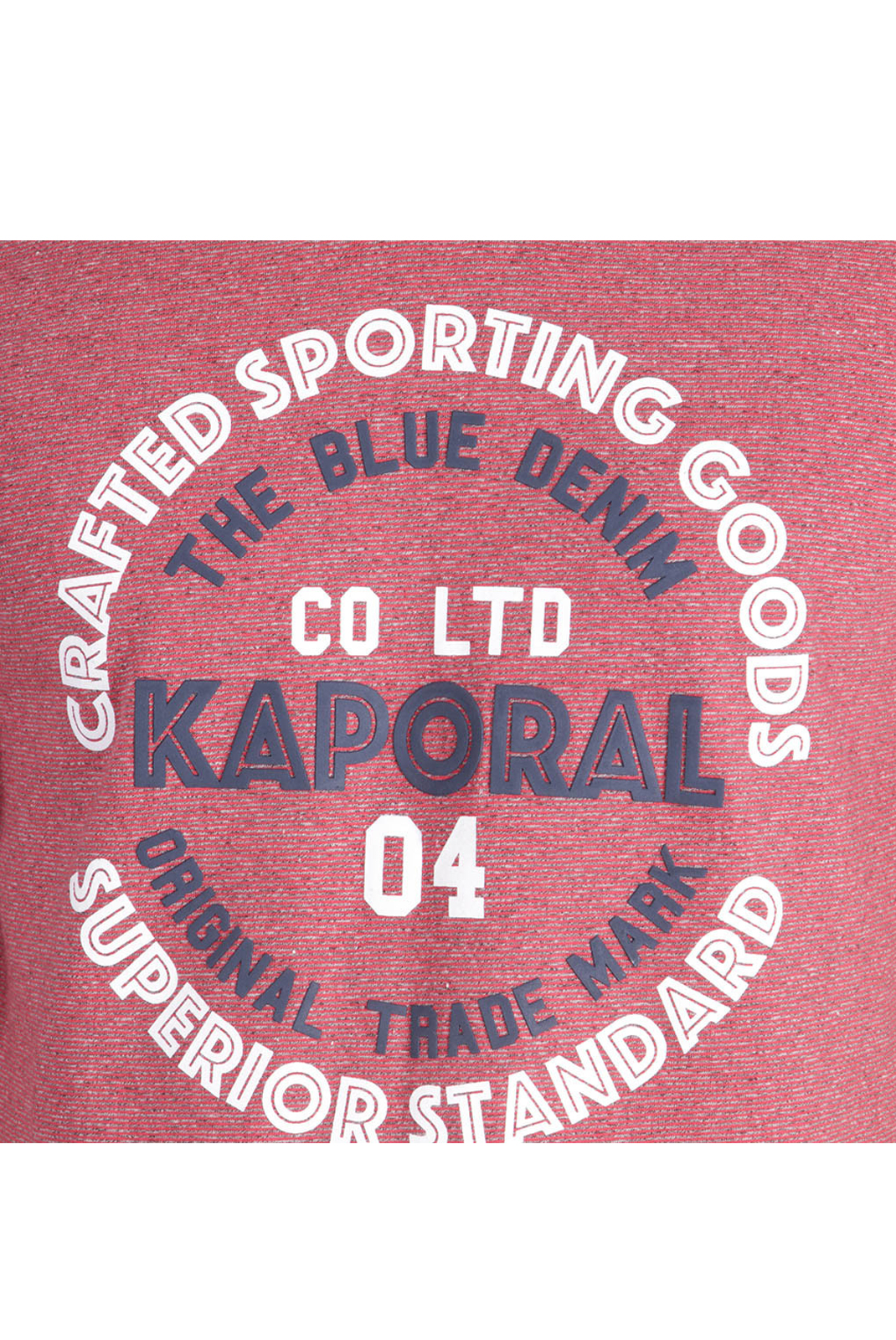 Kaporal Tee-shirt Rouge Golia Inscription Relief