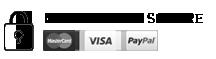 Paiement sécurisé, carte bleu, visa, mastercard, paypal